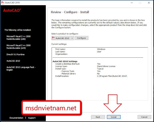 Click vào Install để phần mềm tiếp tục cài đặt