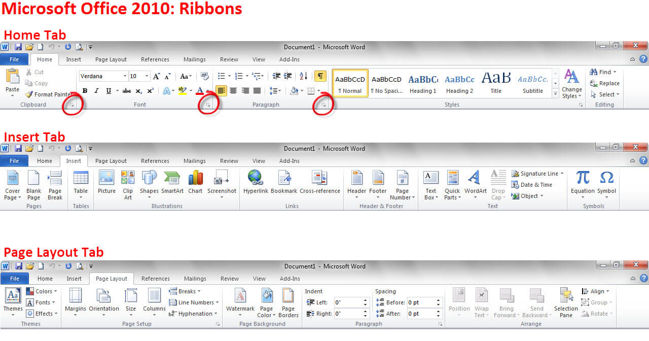 Ribbon microsoft office 2010