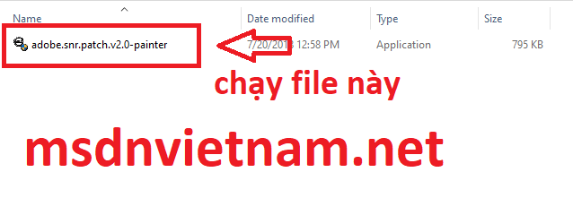 Chạy file Crack