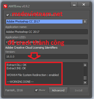 crack photoshop cc 2018 thành công