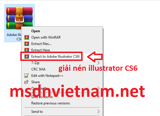 giải nén illustrator CS6