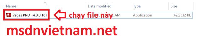 chạy file setup